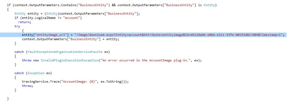 Account Image code cs plugin